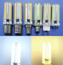 G4/G9/E12/E11/E17/BA15D LED Dimmable bulb 152LED 3014SMD 110/220V 5W Silicone