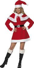 Miss Santa Fleece Costume Christmas Fancy Party Womens Complete Dress