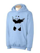 BANKSY PANDA HOODY -  Urban Graffiti T-Shirt - Choice Of Colours Sizes S - 2XL