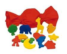 Fühlmemo mit 12 Figuren im Baumwollbeutel Tasten & Fühlen Holz Tastspiel