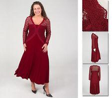 NEW!  Zaftique ELEGANT LACE DRESS Garnet RED (Last One!) 1Z / Women 16 / XL 1X