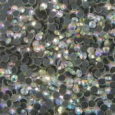 DMC Hotfix Clear Crystal AB Rhinestone Size SS6-SS40 2mm-8mm Iron On Flatback A