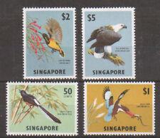 Singapore Sc 66-69 MLH. 1963 Birds, top 4 values VF 2;0