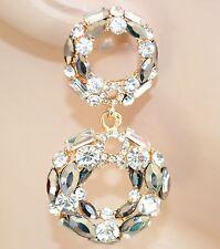ORECCHINI ORO cristalli  ARGENTO strass PIETRE eleganti CERCHI da cerimonia 103X