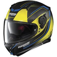 NOLAN N87 SAVOIR FAIRE noir mat jaune N-COM moto casque moto