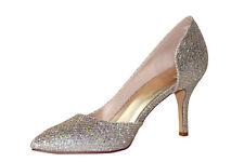 HBH Brautschuhe-Abend Party Schuhe,Pumps, Pailletten,7cm Absatz,Farbe:Light Gold