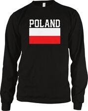 Poland Font Red White Flag Polska Polish Country National Pol Pl Men's Thermal