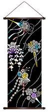 Japan Wanddeko KANZASHI Maiko Haarschmuck japanische Wandbehang Japan Rollbild