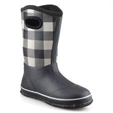 Niños Niñas Niños Impermeable Botas De Agua Invierno Botas de Lluvia Nieve Wellingtons Zapatos Talla