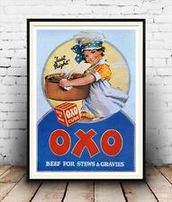 Oxo justo, Cartel Vintage Reproducción de Publicidad, Pared Arte.