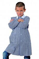 Grembiule scuola materna  quadretto blu  ISACCO
