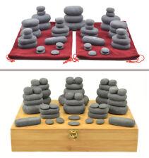 MassageMaster HOT STONE MASSAGE SET: 45 Basalt Stones (Drawstring Bags or Box)