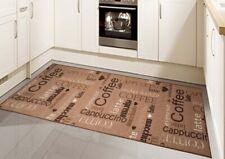 Teppich Modern Flachgewebe Gel Läufer Küchenteppich Küchenläufer Braun Beige Sch