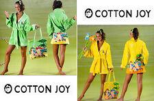 Albornoz Mujer COTTON JOY. Esponja - 100% algodón. CÓCTEL 5. Amarillo y Verde