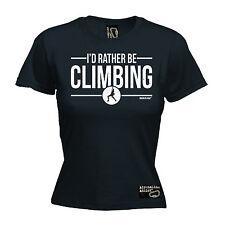 I'd Rather Be Rock Climbing WOMENS Adrenaline Addict T-SHIRT tee birthday funny