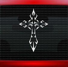 Cross #11 Christian Car Decal Truck Window Vinyl Sticker Iron Tribal 20 COLORS!