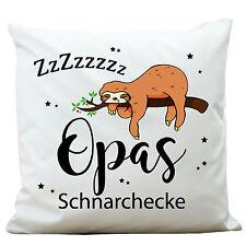 "kp122 wandtattoo-loft Cojines decor. poliéster blanco Pereza"" Opas schnarchecke"""