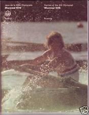 ORIGINAL PROGRAM MONTREAL 1976 OLYMPIC : ROWING
