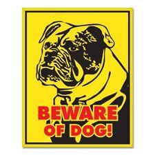 Bulldog Beware of Dog Sign Car Vinyl Sticker - SELECT SIZE