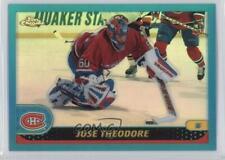2001-02 Topps Chrome Refractors #98 Jose Theodore Montreal Canadiens Hockey Card