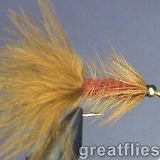 1 dozen (12) - Woolly Bugger - BROWN - Bead Head