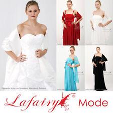 extra breite Stola Brautkleid/Abendkleid Satin/Chiffon viele Farben zur Auswahl
