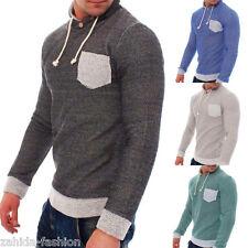 zahida hombre chaqueta Jersey Sudadera Con Capucha de punto camisa manga larga