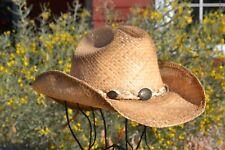 Alamo Hat Co. South Texas Rustic Raffia Shapeable Straw Festival Cowboy Hat 0ced64fb1630