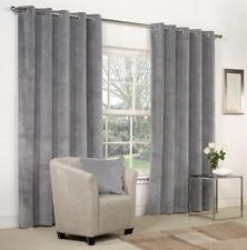 NEW Dove Grey Velvet RingTop / Eyelet Curtains - Plus Door Panel Lined - 9 Sizes