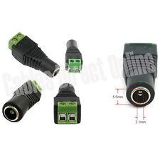 Coax CAT5 CAT6 To Camera CCTV BNC Video Balun Connector Adapter Power Female