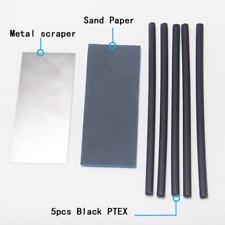 Ski Snowboard Drip Candle Base Repair Sticker Kit 5pcs Ptex Sticks Metal Scraper