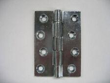 "1, 1.5, 2,2.5, 3, 4"" inch Door Butt Hinges Light & Heavy, Self Colour Zinc Plate"