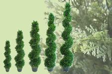 Best Artificial Cedar Spiral Conifer Topiary Outdoor Twist Trees alt bay new