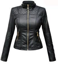 Women's Designer Lambskin Motorcycle Leather Slim Fit Biker Jacket