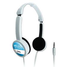 Novelty Travel Portable On-Ear Foldable Headphones Hello My Name Is Ia-Iz