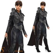 Ladies FAORA Superman Man Of Steel Superhero Fancy Dress Costume Outfit