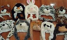 Fancy animal wolf/panda/lion/frog/tiger/penguin warm hat party/costume/halloween