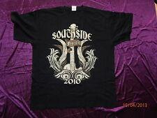 Estupenda + rockiges Southside Festival 2010 oro Guitar t-shirt para expertos!