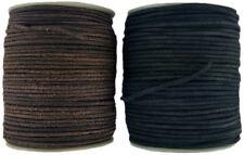 Negro O Marrón 3 mm Redondo Cordón de Cuero Longitudes de 2-5 metros
