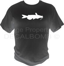 Catfish T-Shirt fishing noodling rod reel fly lure bait rzr black boat mud mens