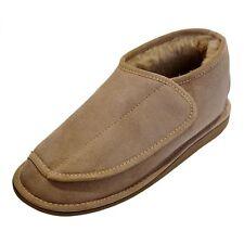 peau de mouton chaussons - Christel femme homme chaussures à fermeture scratch