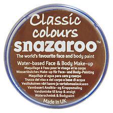 Snazaroo 18 ml marron clair Visage Peinture Fancy Dress Party étape Maquillage classique