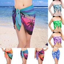 Womens Beach Sarong Wrap Pareo Cover Up Dress Swimwear Swimsuit Bathing Suit US