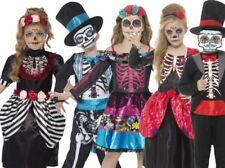 Infantil Día de los Muertos Disfraz Niño Niña Calavera Halloween Nuevo
