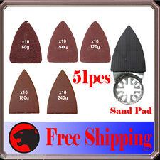 """51 2"""" Finger Sanding Kit Oscillating MultiTool Pad Fein Multimaster Dremel Bosch"""