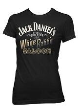 Jack Daniels Womens SE White Rabbit Saloon Short Sleeve T-Shirt 15361423JD-89