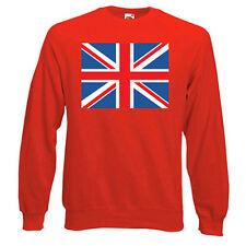 Union Jack Flag (UK) Sweatshirt, FLAGS - Choice of size & colours.
