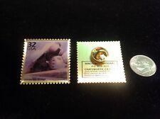 US Postal Service Streamline Design 32 Cent Stamp Pin 75 Year Anniversary