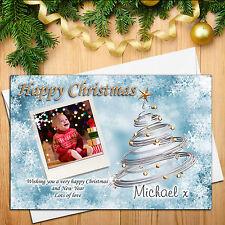 Personalised Happy Xmas Christmas PHOTO Post Cards N9