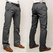 Mens Fashion Suit Pant Long Formal Pants Businese Slim Straight Suit Trousers G